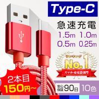 Type-cケーブル 充電 コード 1m 急速充電 スマートフォン 充電ケーブル モバイルバッテリー (送料無料)