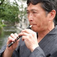 西域から中国に伝わり、高麗の楽師によって日本にもたらされた楽器「篳篥(ひちりき)」  長さ約18cm...