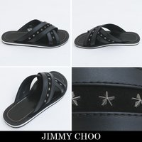 JIMMY CHOO(ジミーチュウ) フラットサンダル ブラック WALLY CWH