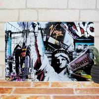 〜 k e y  w o r d s 〜     USA ニューヨーク マンハッタン 石像 シン...