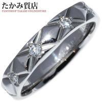 状態:特に目立つような深いキズは無く、全体的に綺麗な状態です。 素材:Pt950(プラチナ) ダイヤ...