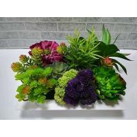 【送料無料】多肉植物アレンジメント壁掛け 大 アートグリーン 造花 グリーンアート 多肉植物 インテリア