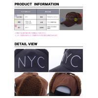 キャップ 帽子 スナップバック NYC ニューヨークシティー 耳あてつき 冬 あったか ぬくぬく もこもこ 帽子 パイロットキャップ エスキモー