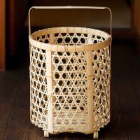 白竹ランドリーバスケットはお洗濯を楽しくするために生まれてきた、白竹で編み込んだ手付きのランドリーバ...