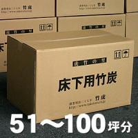 住宅の床下調湿用、消臭用竹炭。1坪あたり約15〜20キロを目安に粒竹炭を敷いていきます。日本唯一の虎...