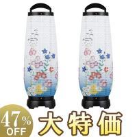 寸法:高さ55cm×巾18cm 足:プラスチック製 火袋:和紙張レース(桔梗に撫子) 電装:110V...