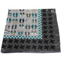 かわいいシルク調スカーフ 中判 60cm正方形スカーフリボン 事務服 企業制服スカーフ  手首に、デニムに、バッグに、無限に使える人気柄スカーフ激安