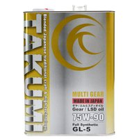 ・SAE粘度:75W-90 ・API規格:GL-5 ・容量:4L ・100%化学合成油(Synthe...