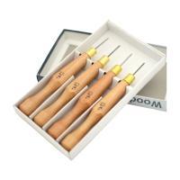 ◆ペンを持つように握れる、力が入りやすい木製グリップ。 ◆ブレード内訳:◆平刀、◆丸刀(U字)、◆角...