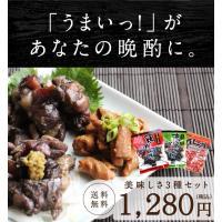 炭火焼3種類 お試し 3種盛り 焼き鳥 ホルモン焼き 宮崎 九州 おつまみ 送料無料