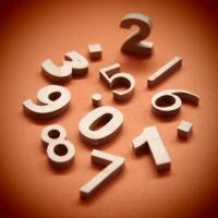 木製切文字数字 楓(かえで)2cm木の文字