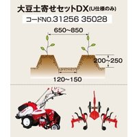 三菱農機 大豆土寄せセットDX  三菱管理機 耕運機 MMR600UN用  1.特殊な爪配列により作...