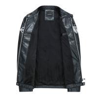 レザージャケット 革ジャケット メンズ 裏起毛 PU革 フェイクレザー ブルゾン 革ジャン ライダースジャケット 秋冬 バイクウェア