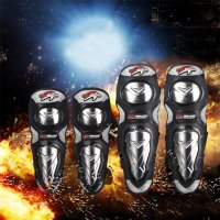 ケガをしっかりとガード!肘・膝用のお得なセット バイク用 安全装備 プロテクター ケガ防止 肘あて ...