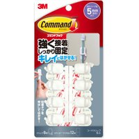 メーカー:3M   品番:CMG-1H   コードやケーブル類をきれいに収納コマンドフック。