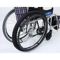 ・介護現場から生まれた自走式車いす専用タイヤカバー。・前後セット。・フロントタイヤはマジックテープで...