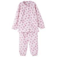 婦人キルト介護腰開きパジャマ 上下セット・秋冬に最適なあったかキルトパジャマ。・腰開きだから着せ替え...