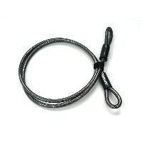 ワイヤー(ケーブル)の両端がフープになったケーブルです。鍵をかけたいところにケーブルを通しフープ(わ...