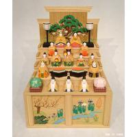 【こちらの商品はお取り寄せとなります】 奈良の一刀彫雛人形・段揃雛(中)は、奈良の伝統工芸品である一...