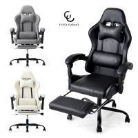 ゲーミングチェア リクライニング フットレスト バケットシート ハイバック 椅子 オフィスチェア ワーク パソコンチェア