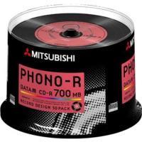 ●三菱化学メディア SR80PH50D5 CD-R(Data) 700MB 50枚スピンドルケース5...