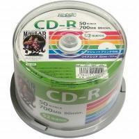 ●CD-R700MB50枚スピンドルデータ用52倍速対応白ワイドプリンタブルHDCR80GP50 ≪...
