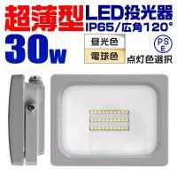 LED投光器 30W 防水 LEDライト 作業灯 防犯灯 ワークライト 広角120度 3mコード付 看板照明 昼光色