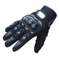 PRO-BIKER グローブ 3色 防寒防風防雨バイク アウトドア 自転車 手袋 ブラック Lサイズ