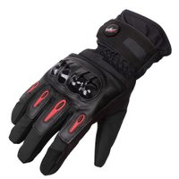 PRO-BIKER 防寒 防風 防雨 バイクグローブ バイク 冬用 手袋 黒 XL
