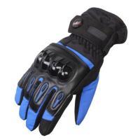 PRO-BIKER 防寒 防風 防雨 バイクグローブ バイク 冬用 手袋 青 M