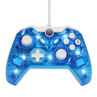 iFormosa Xbox ONE に使用できる 互換性 USB 有線 ゲームコントローラー XboxOne Windows 対応 ブルー IF-X1-WD-CBL 8112