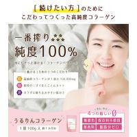 名称  うるりんコラーゲン 内容量  100g 製造加工地  日本 原料  豚皮コラーゲンペプチド ...