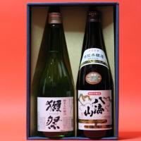 商品は、退職祝  獺祭(だっさい)純米大吟醸 磨き50 + 八海山 本醸造 720ml 日本酒 飲み...