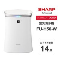 SHARP (シャープ) 空気清浄機 プラズマクラスター7000搭載 14畳 ホワイト系 SHARP (シャープ) FU-H50-W