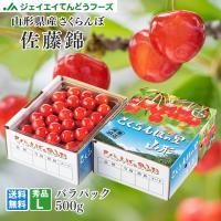さくらんぼ 佐藤錦 ギフト L玉 秀品 500g 山形県産 バラパック c5