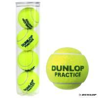 ダンロップ(DUNLOP) テニスボール PRACTICE(プラクティス)4球入 1缶 PRACTICE