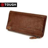 タフの「Leather Wash」シリーズの長財布です。上質なイタリア製牛革を使用しているので、牛革...