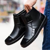 ショートブーツ レインブーツ メンズ 防水 レインシューズ 雨靴 メンズ靴 シューズ 2018 新作...