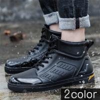レインシューズ メンズ 雨靴 レインブーツ ショート 防水靴 ショートブーツ ハイカット 靴 防水 おしゃれ 梅雨