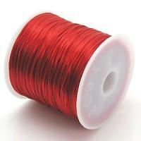 1-ru-1 カラーゴムひも赤色 ポリウレタン製 サイズ(約0.8mmX70m ゴムひも ゴム糸 ラバーコード