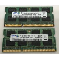 SAMSUNG 2RX8 PC3-10600S 4GB 2GB×2枚組 4GB  DDR3ノートPC用 メモリ  DDR3-1333 2GB 2枚 保証あり DDR3 RAM