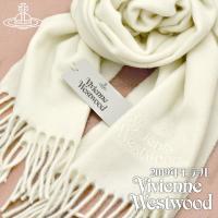 【送料無料】Vivienne Westwood 2019年新作 ヴィヴィアンウエストウッド マフラー レディース ホワイト WHITE VV19-A401-WHITE