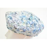 ジル・フランソワ ベレー帽 P-1 ブルー 花柄 帽子 レディース 婦人 ハット フランス製 直輸入 ファッション 一点物 送料無料 ネット通販 オールシーズン