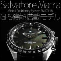sm17118  サルバトーレ・マーラ GPS腕時計 メンズウォッチ ワールドタイム 世界30都市 ...