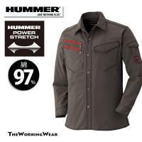 人気のHUMMERシリーズのスタイリッシュ作業服です。 ストレッチの効いた綿素材+立体裁断の長袖シャ...