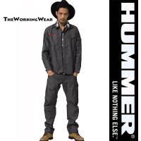 人気のHUMMERシリーズの春夏用作業服上下セット ストライプ柄でシャープな印象  立体裁断で動きが...