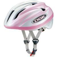 OGK ジェイ・クレス2 J-CULES2 子供用ヘルメット パールホワイトピンク 自転車用品 【5...