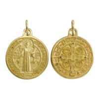 聖ベネディクト ゴールド メダイ -毒・腎臓病・胆石・誘惑の守護聖人- イタリア製