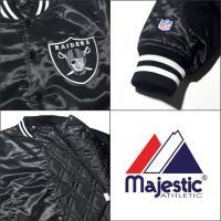 MAJESTIC  マジェスティック スタジアムジャケット メンズ スタジャン レイダース majestic RAIDERS  ストリート系 ファッション