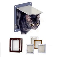 犬・猫専用のドア。 厚みが非常に薄いので主に室内ドアや引き戸へぼ取り付けに最適なキャットドア。 取り...